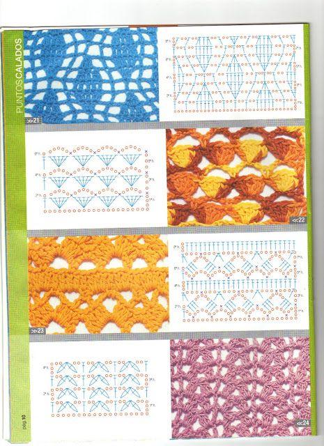 patrones asgaya: puntos calados crochet