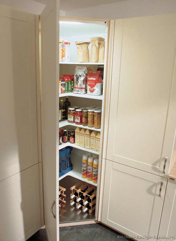 Corner Kitchen Pantry Cabinet To Maximize Corner Spots At Home