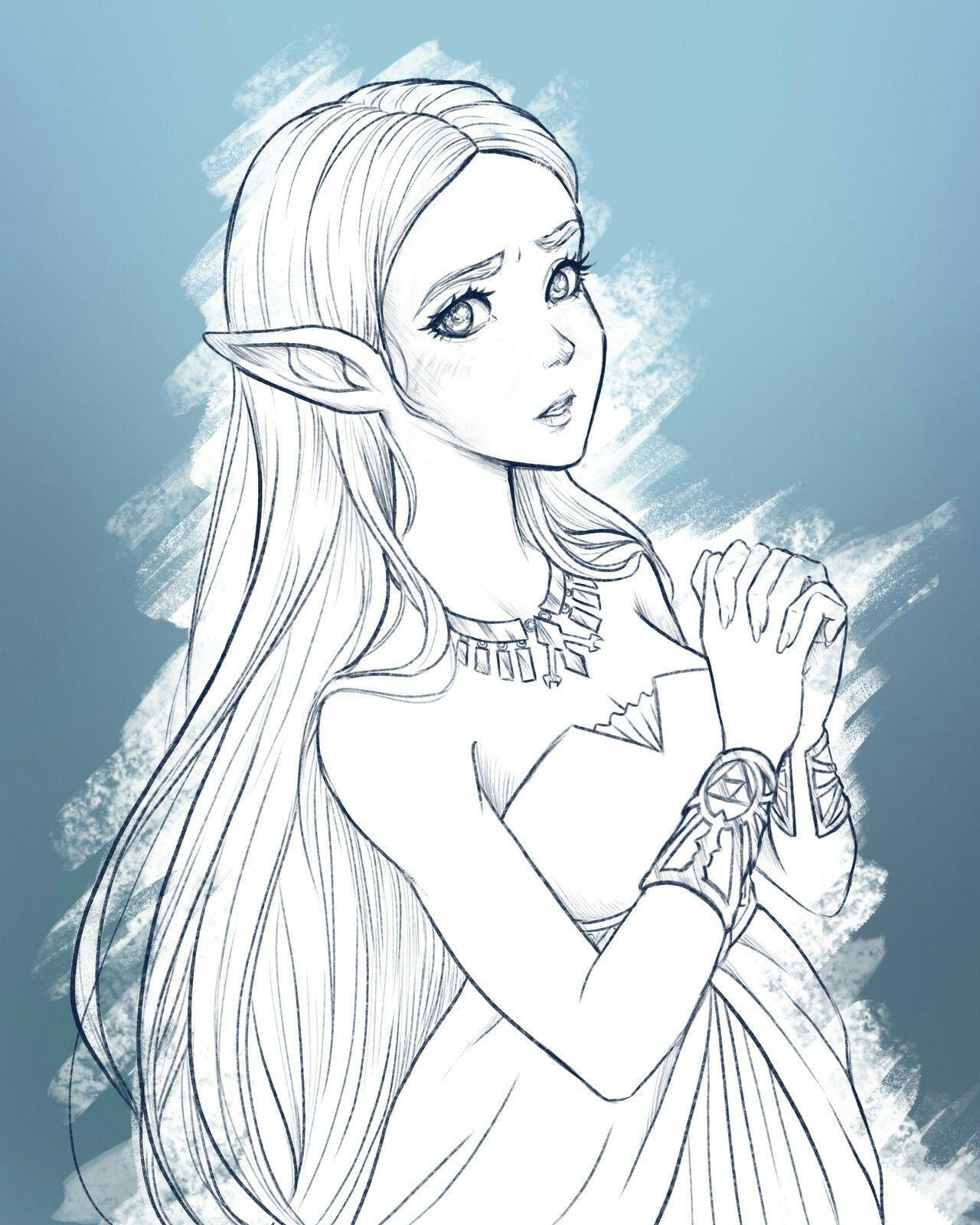 Link Zelda Dibujo A Lapiz