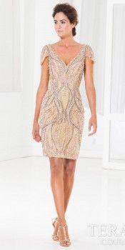 Hug Shoulder Cocktail Dress by Terani Couture #edressme