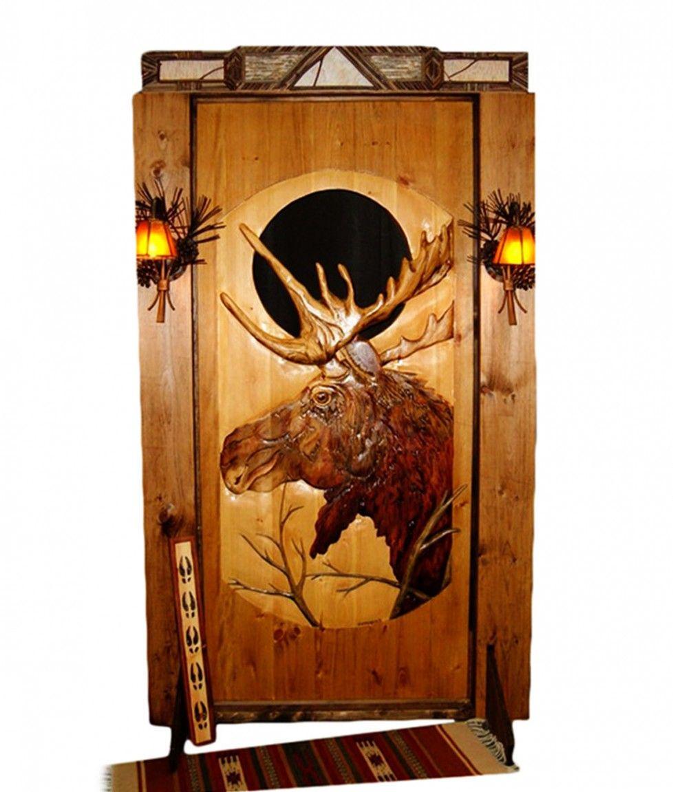 Rustic wood interior doors - Download Cool Rustic Solid Wood Doors Interior Moose Door Creative Doors Creative Solid Wood Doors Interior