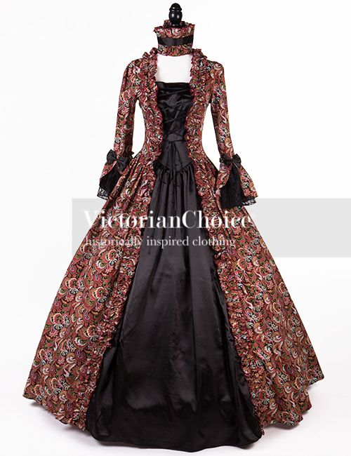 8d0bcb1fe511 Victorian Renaissance Gothic Prom Dress Ball Gown Theatrical Reenactment  Costume