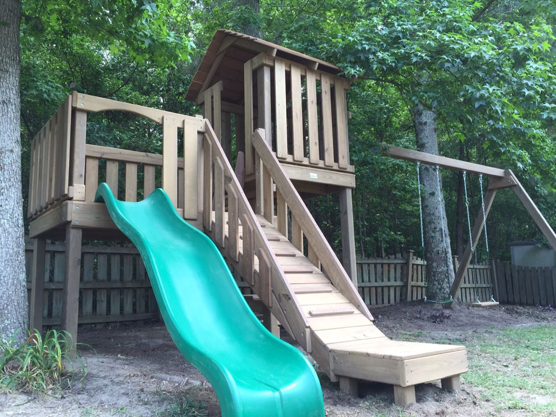 our wooden play set