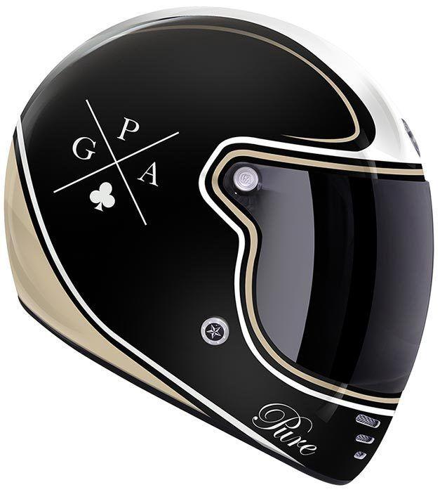 Gpa Pure Crossword Helm Motorcycle Casque Moto Vintage Casque