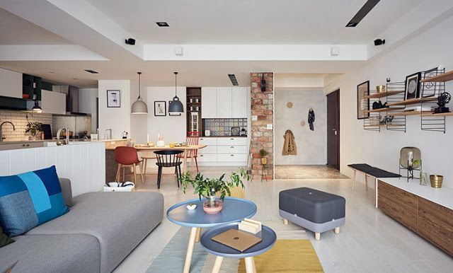 DECORATED APARTMENT APPEARS BRAZILIAN BUT HAS SCANDINAVIAN STYLE AND IS IN TAIWAN - -
