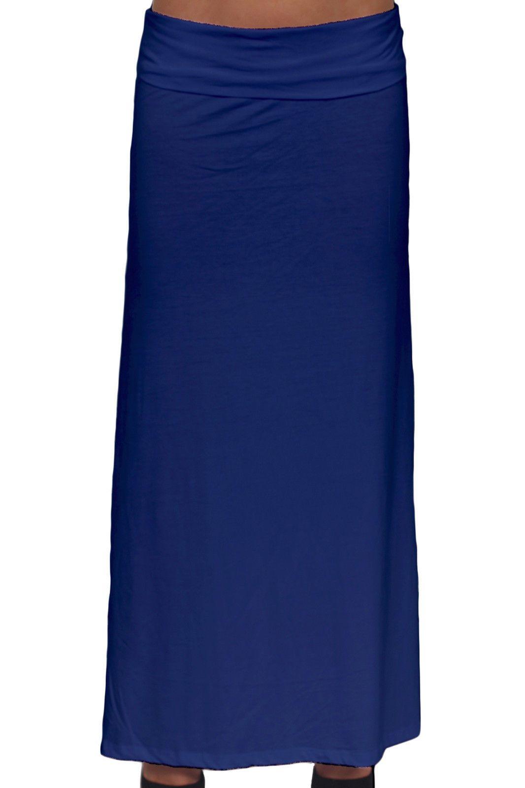 4611bb735fe Women S Royal Plus Size Full Length Folding Waist Rayon Maxi Skirt 1Xl 2Xl  3Xl
