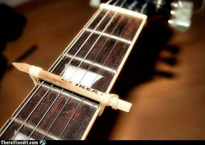 There I Fixed It Homemade Guitar Capo Guitars Pinterest