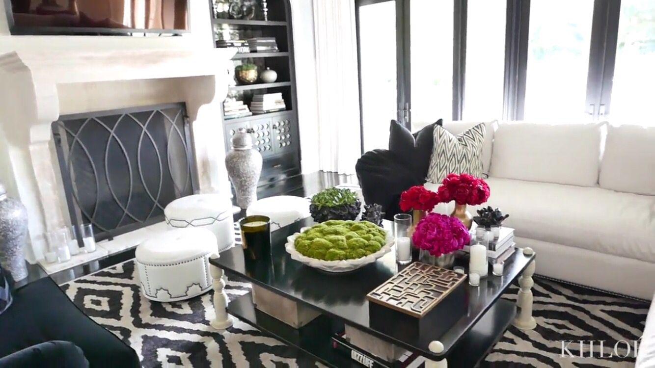 Cushions Luxury Home Decor Black And White Living Room Apartment Inspiration Khloe k living room