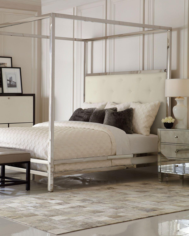 chrome canopy bed king on bernhardt magdalena bedroom furniture luxury furniture design bernhardt furniture luxury furniture pinterest