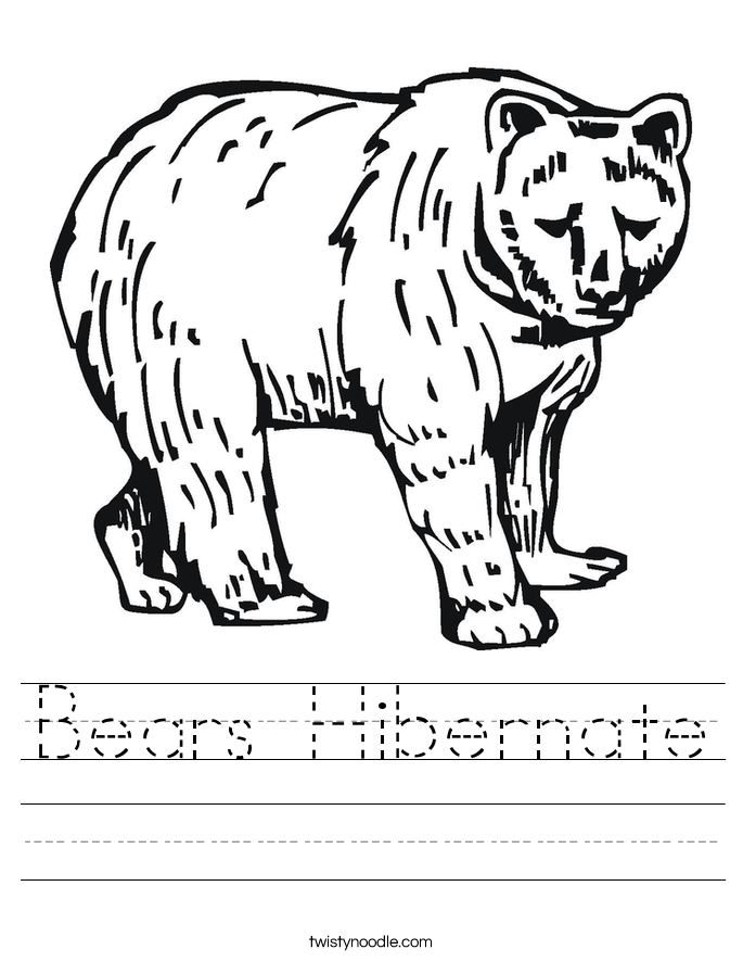 Animal Hibernation Printable Worksheets Coloring Pinterest