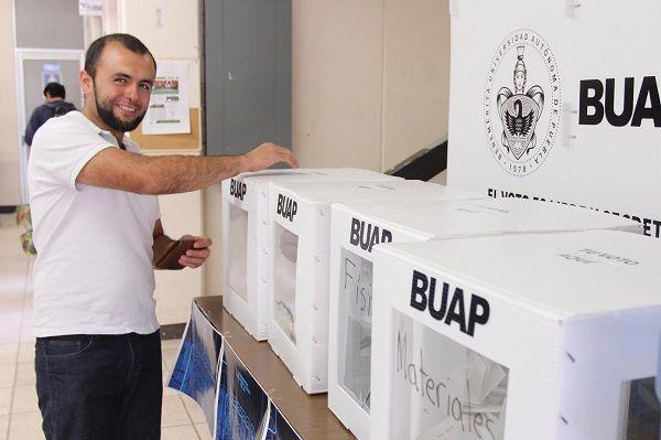 Gran participación en elecciones de la BUAP