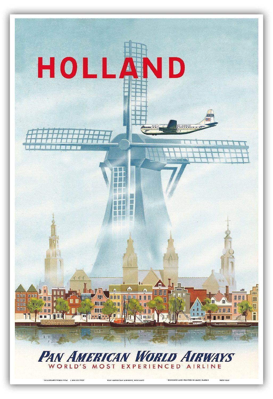 Amazon com: Holland - Netherlands Dutch Windmill - Pan