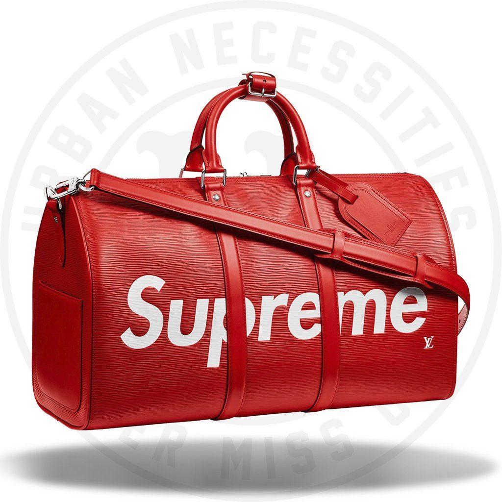 Louis Vuitton x Supreme Keepall Bandouliere Epi 45Urban