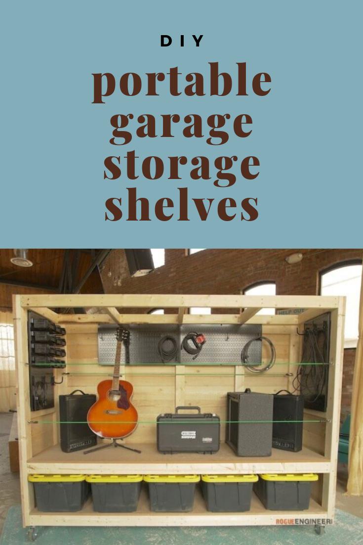 Portable Garage Storage Shelves   Portable garage, Storage ...