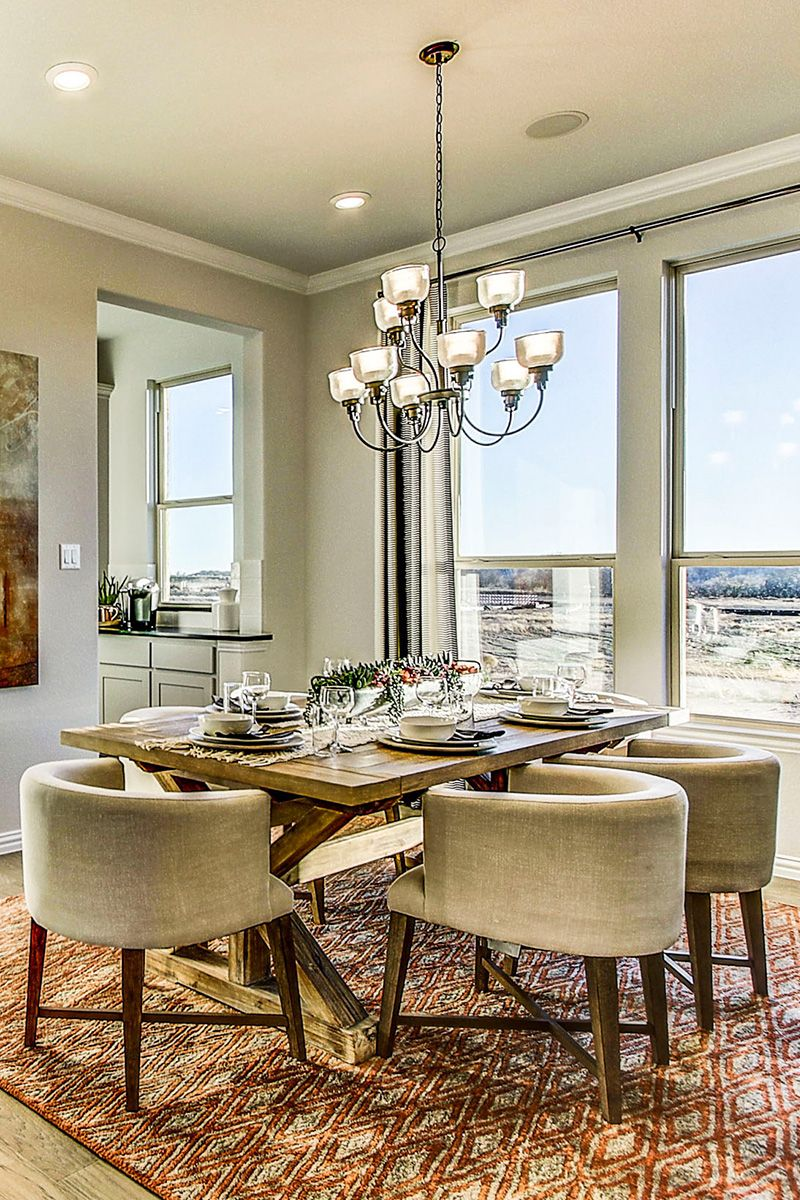 Dining room at Trailwood in Flower Mound, Texas New home