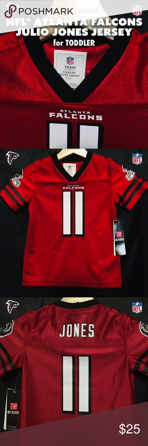 Nfl Atlanta Falcons Julio Jones Toddler Jersey In 2020 Toddler Jerseys Clothes Design Kids Shirts