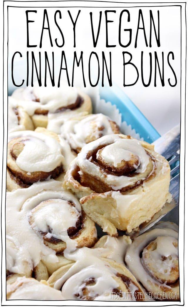 Easy Vegan Cinnamon Buns Easy Vegan Cinnamon Buns