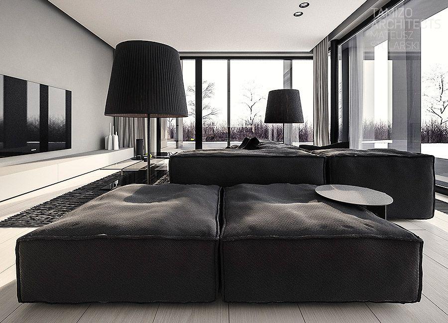 wie man minimalistische hauptentwurfs ideen herstellt die ein modernes dekor darin kombinieren. Black Bedroom Furniture Sets. Home Design Ideas