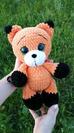 Stuffed animal Fox toy for kids, Baby Fox doll for baby, Crochet fox toy plush animals, Cute Fox plush doll, Birthday gift for child