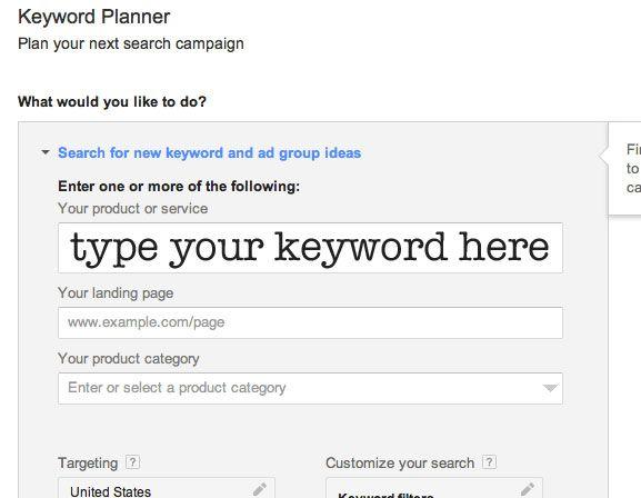 How To Use Google Adwords Keyword Tool Keyword Planner Adwords Keyword Tool