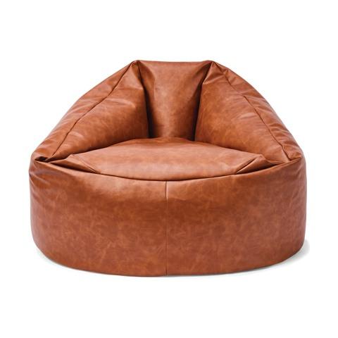 Tan Bean Bag in 2020 Leather bean bag chair, Leather