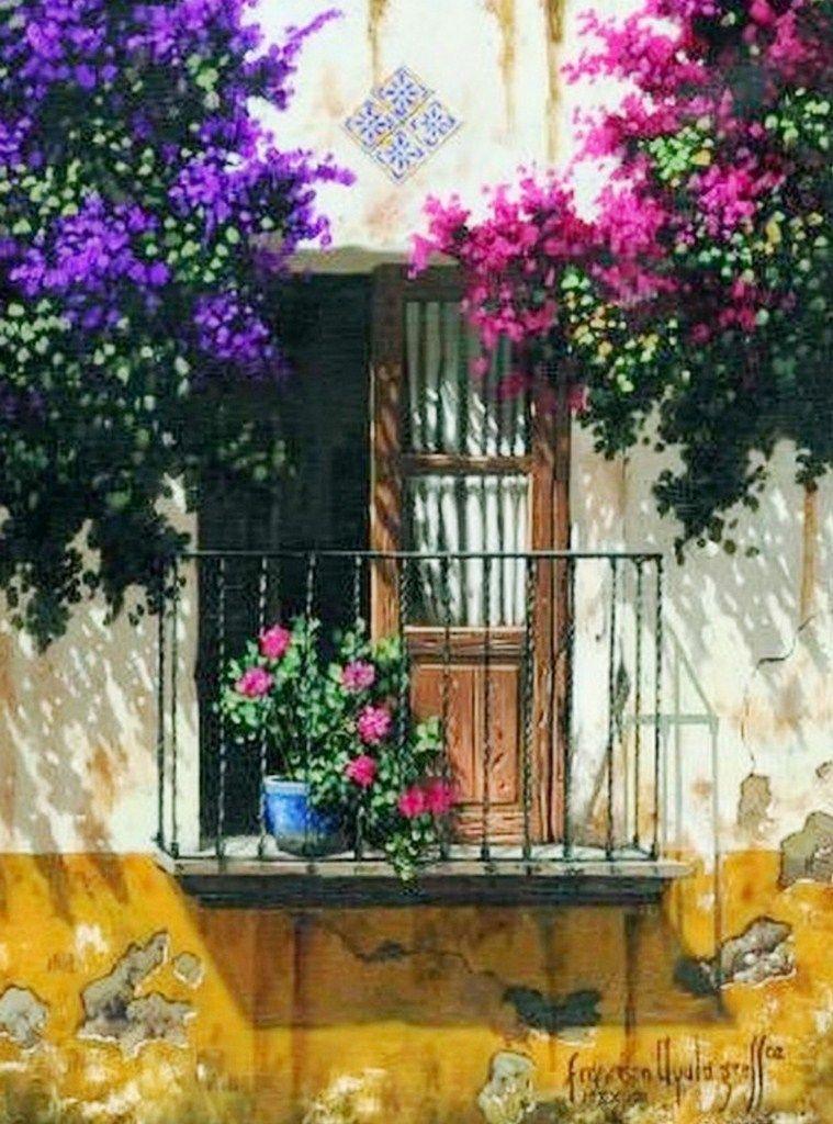 Arte pinturas leo galer a paisajes mexicanos leo - Oleos de jardines ...