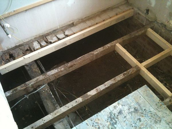 Perfect Replacing Rotten Joists With Bathroom Installation In Leeds