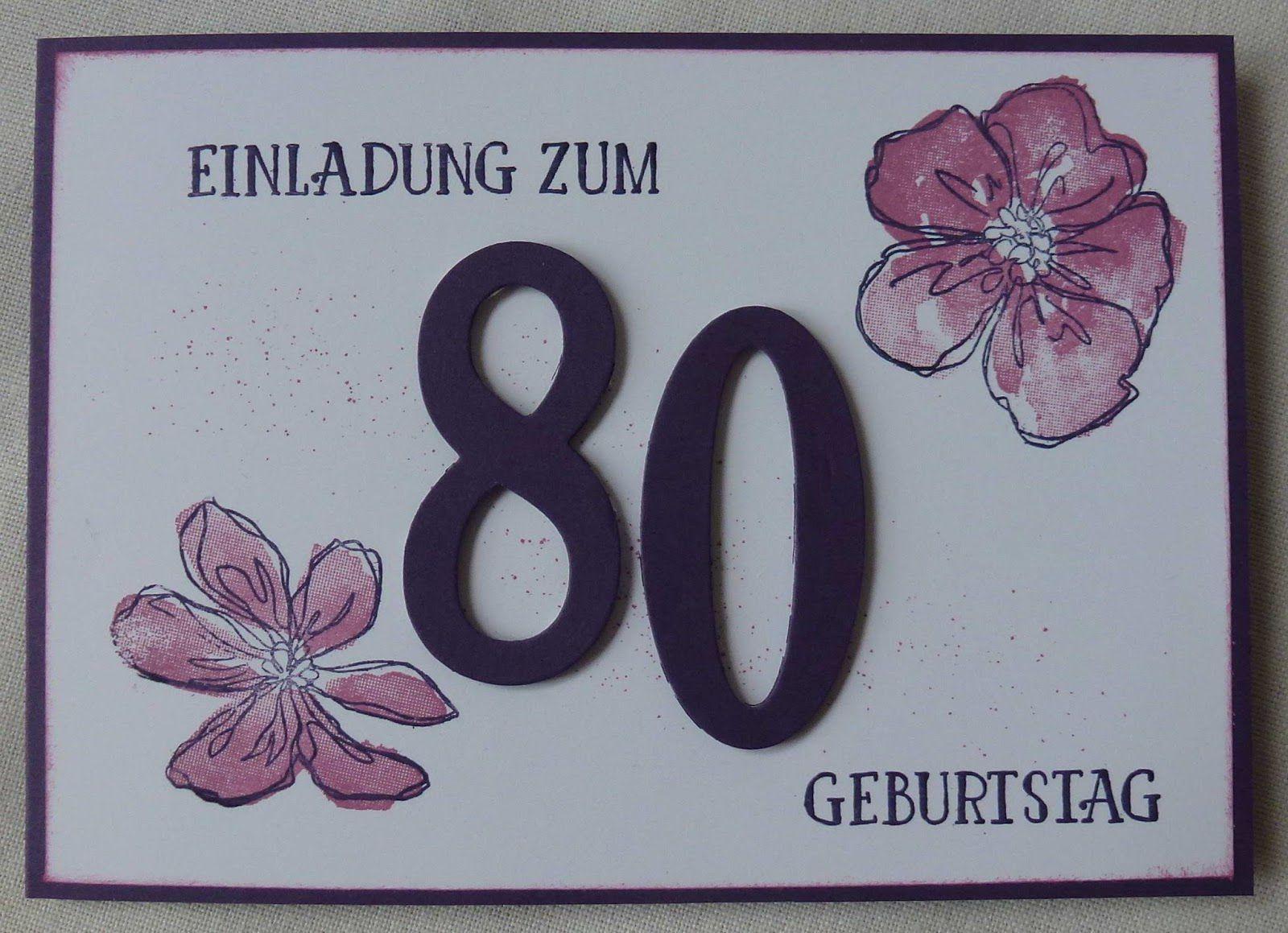 Pin Von Gaby Zwack Auf Oma Geburtstag In 2020 Einladung 80