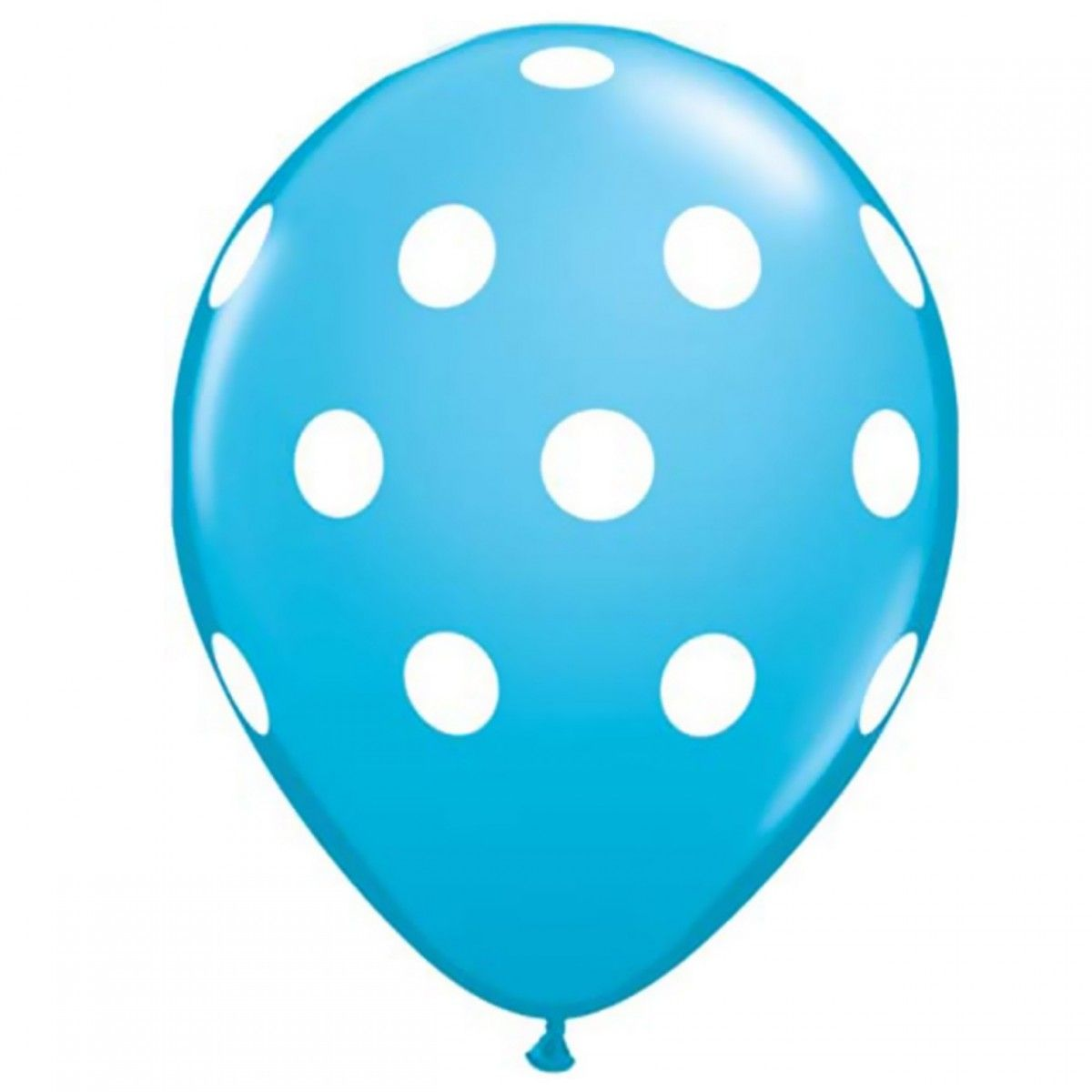 "11/"" Inverted Polka Dot Black Latex Balloon Party Decoration Big Dot 10 pc"