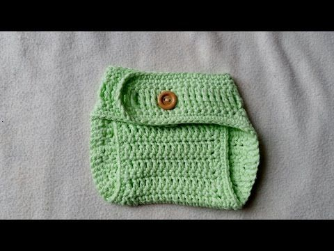 Crochet Diaper Cover for Newborn Babies with subtitles by ...