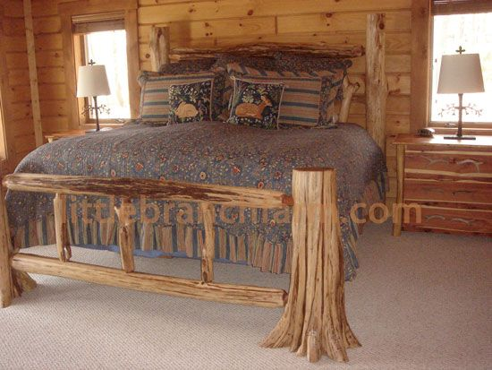 Rustic Log Beds Twisted Juniper Beds Cabin Furniture Rustic Furniture Log Cabin Furniture