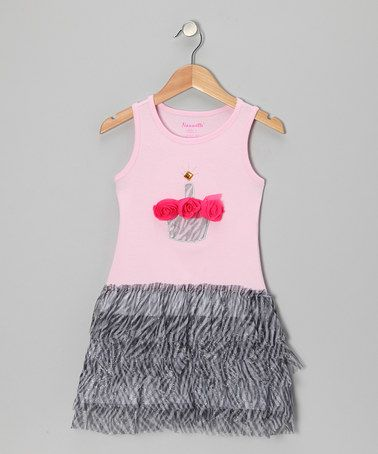 6.99 Love this Pink Zebra Cupcake Dress - Girls on #zulily! #zulilyfinds