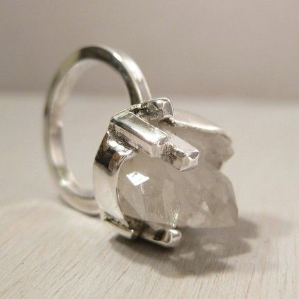 Iceberg - Quartz and sterling silver ring By Jealousy Design: Iceberg - Quartz and sterling silver ring  #Rawstone #jewelery