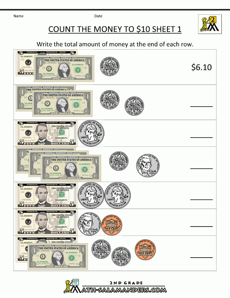 Free Printable Coin Worksheets Money Math Worksheets Money Math Money Worksheets