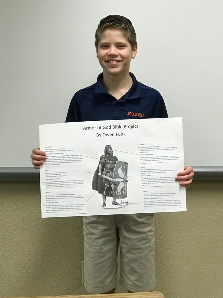 Armor of God projects in Middle School Bible class Bible