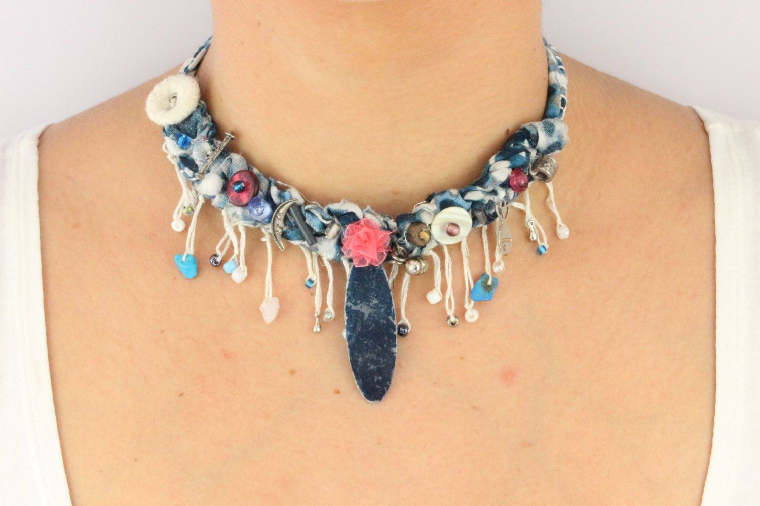 Unique Design Bohemian Boho Necklace Easter Gift For Her