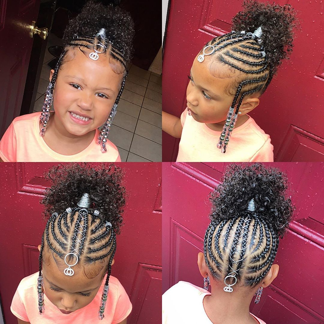 Tylica On Instagram No Weave Added Braided Updo Naturalhairstyles Naturalhair Brai Lil Girl Hairstyles Braids Kids Hairstyles Lil Girl Hairstyles
