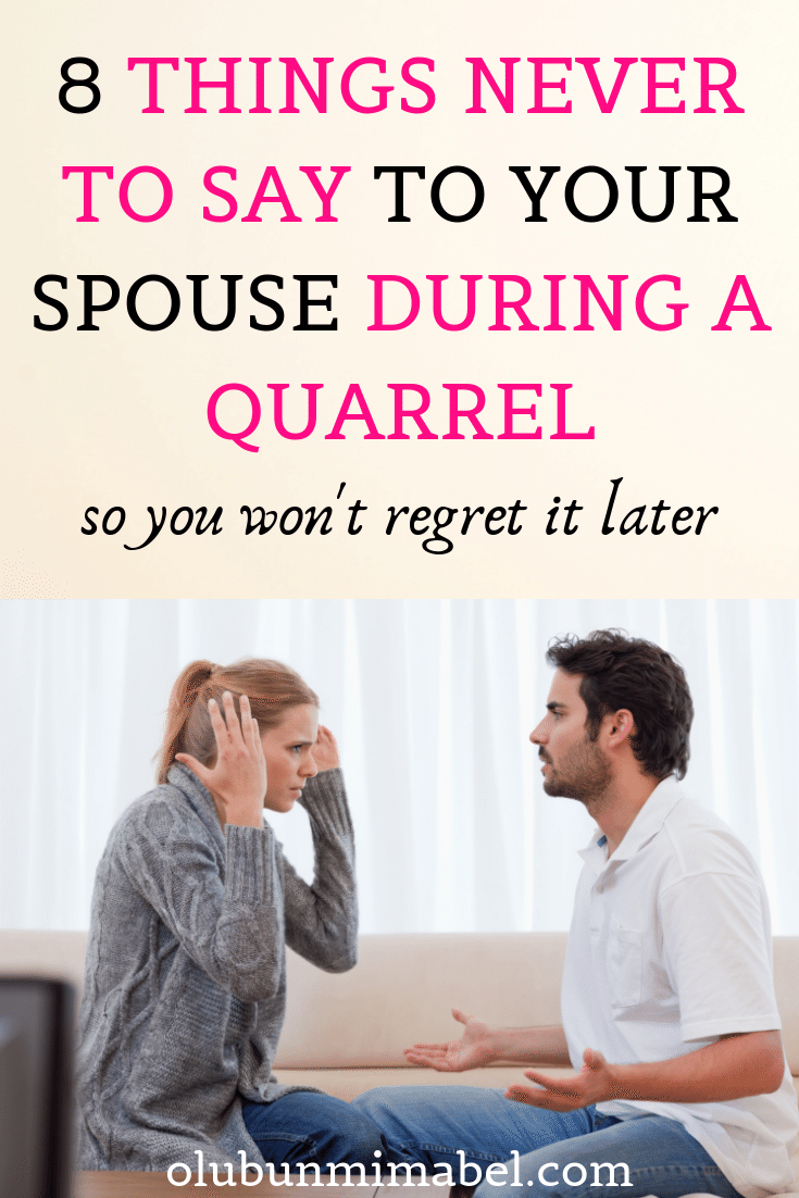 Things wife hurtful when says your Hostile Venting: