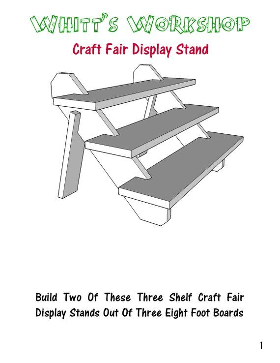 Craft Fair Display Stand PDF Woodworking Plans Wood Plans Simple Craft Fair Display Stands
