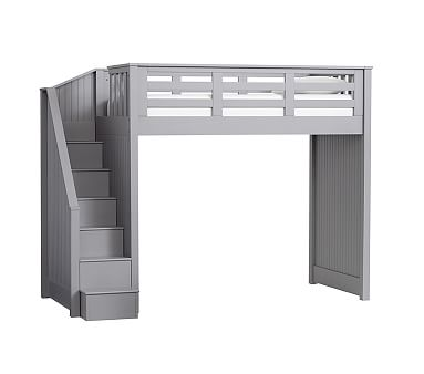 Catalina Stair Loft Bed Twin Charcoal Bunk Beds With