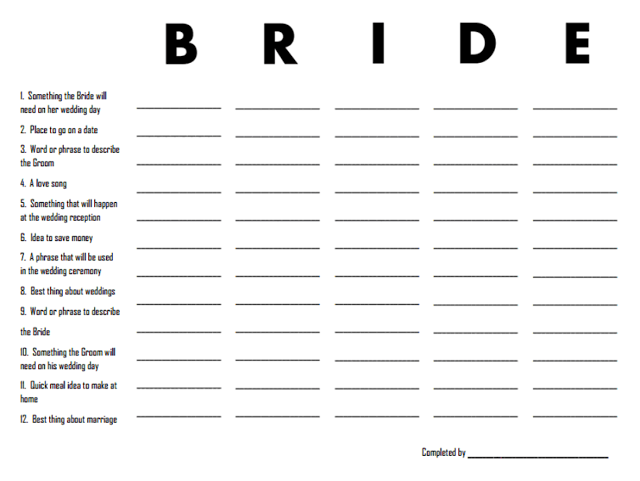 3 Free Printable Bridal Shower Games (that are actually