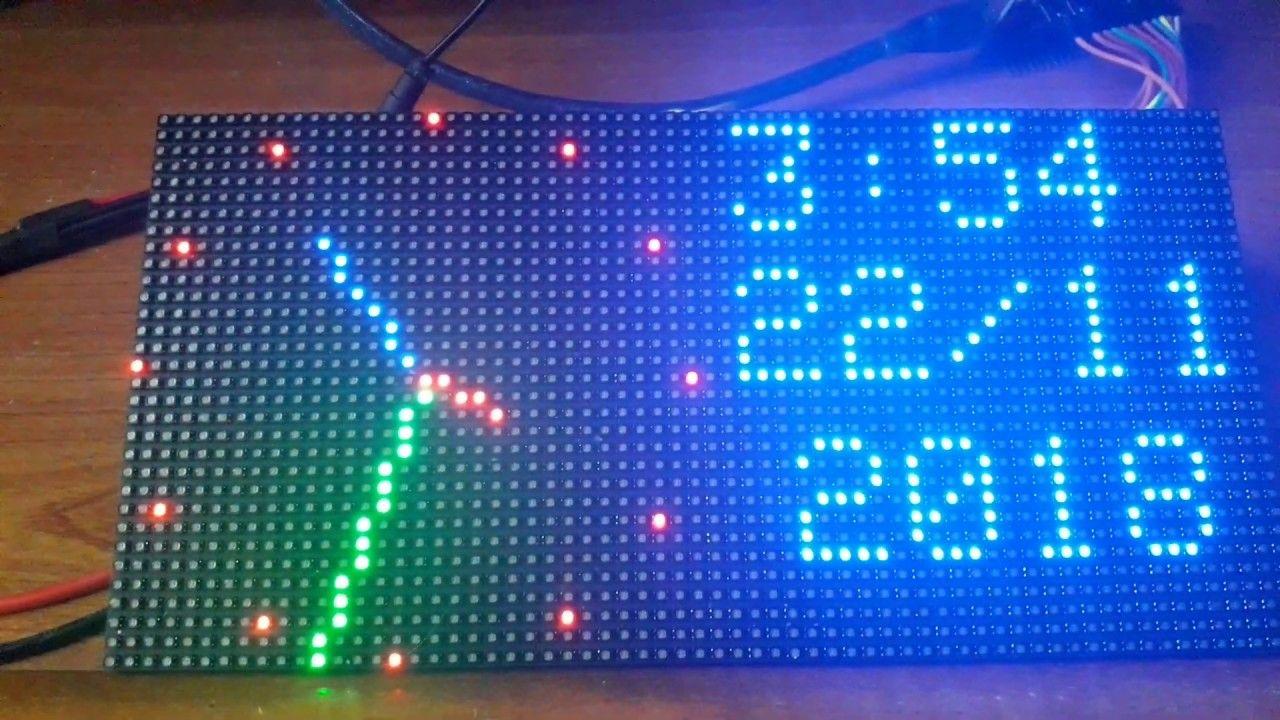 P3 Rgb Led Matrix Internet Clock Iot Esp8266 Nodemcu V3 P3 Rgb Led Matrix Internet Clock Iot Esp8266 Nodemcu V3 This Clo Led Matrix Internet Clock Rgb Led