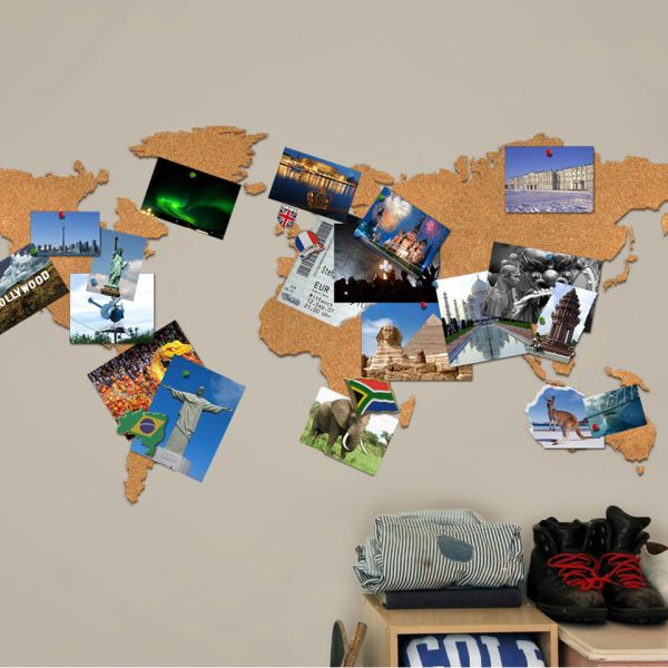 Cork board world travel map travel maps cork boards and cork cork board world travel map gumiabroncs Images