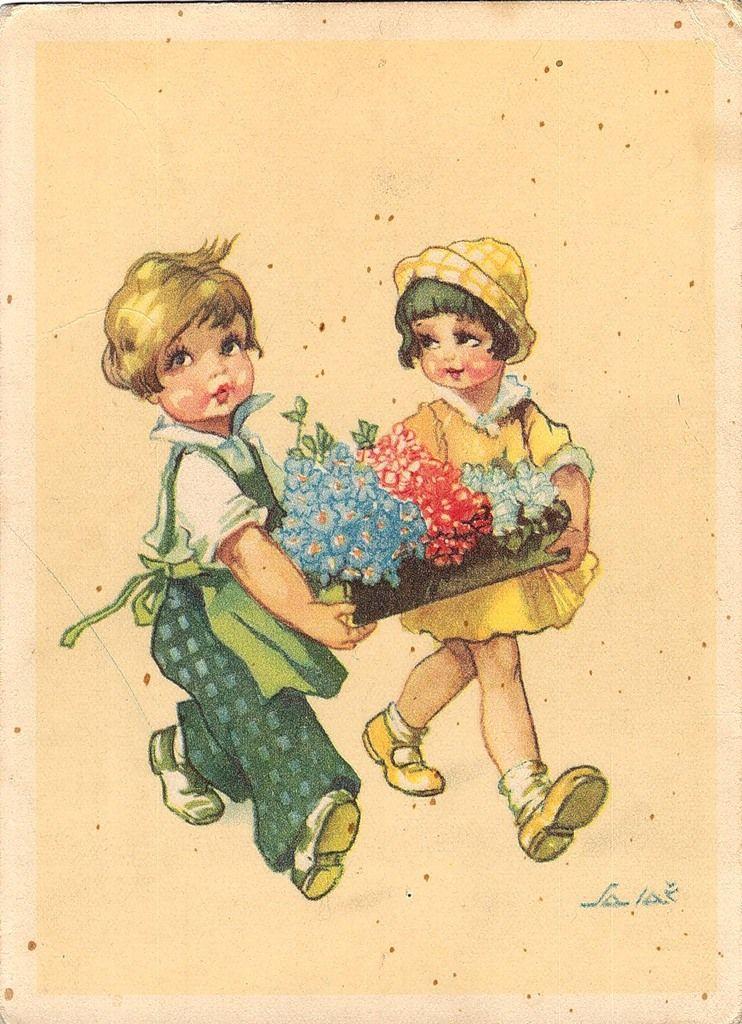 Картинка немецкой открытки, валерия рисунок