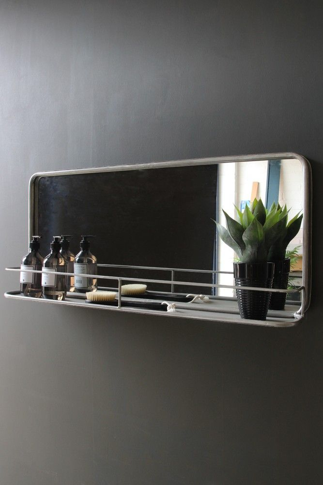 Wall Mounted Shelf With Mirror Mirrors Home Accessories