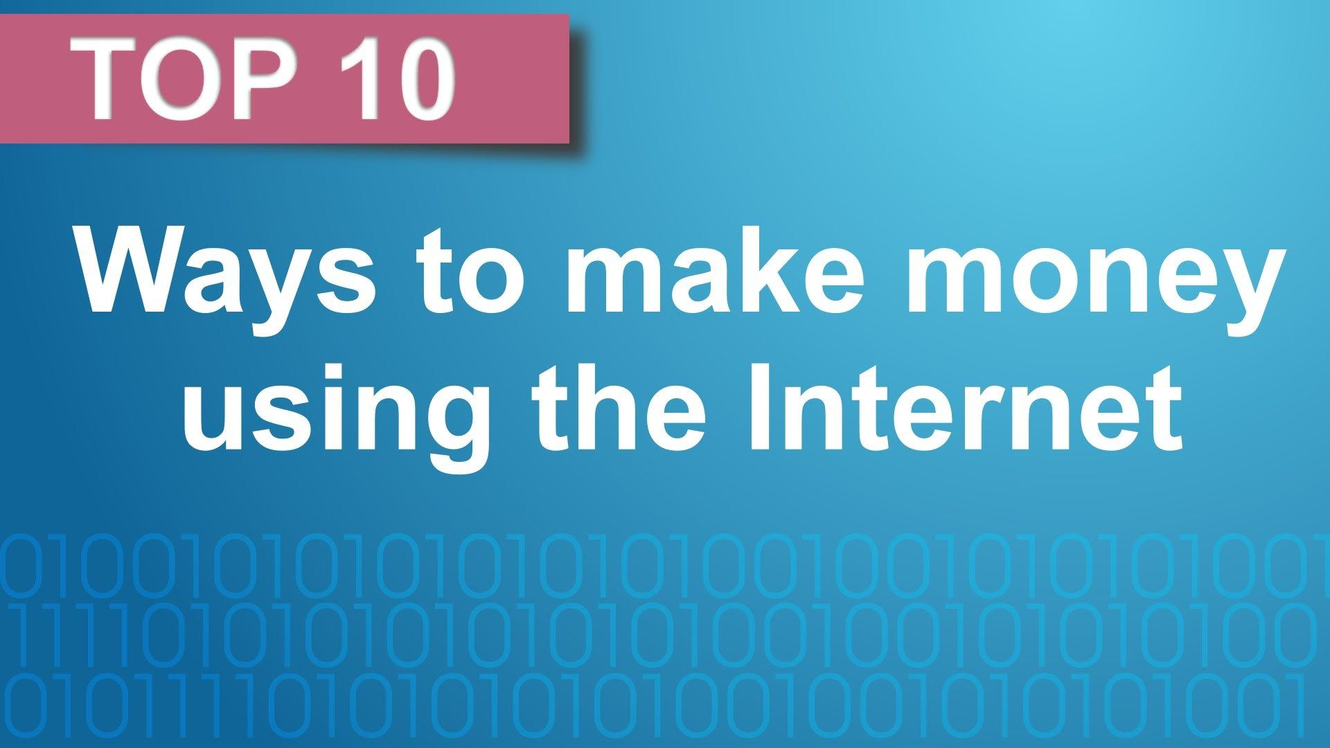 Top 10 Ways To Make Money Using The Internet - WATCH VIDEO here -> http://makeextramoneyonline.org/top-10-ways-to-make-money-using-the-internet/ -    In this video we look at the top 10 ways to make money using the Internet, including affiliate marketing,