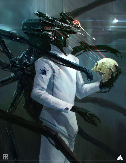 sci fi evil scientist concept art - Google Search   Robot concept ...