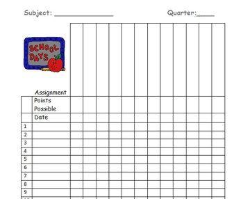 free gradebook sheets - Google Search | Middle school | Pinterest ...