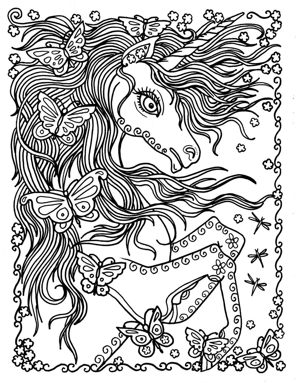 Deborah Muller Art Chubbymermaid Unicorn Coloring Pages Coloring Pages Butterfly Coloring Page [ 1500 x 1159 Pixel ]