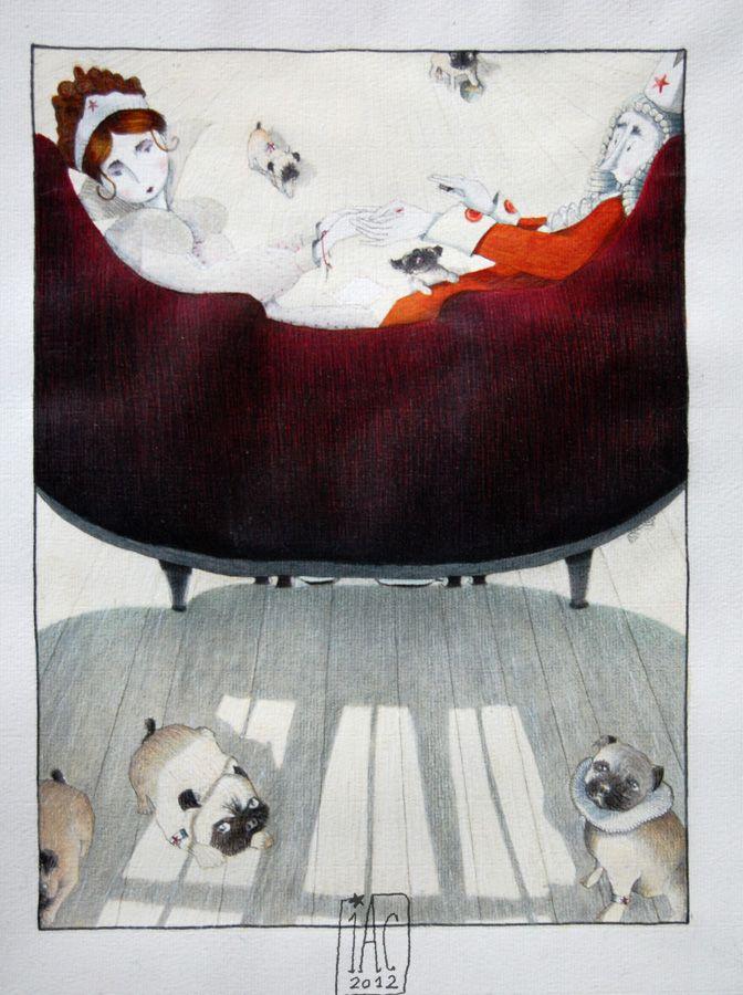 Entre Lápis e Pincéis: Isabelle Chatellard